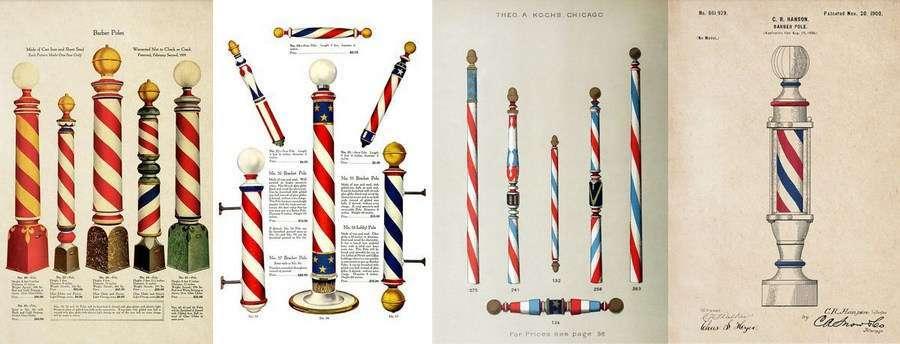 Barber Poles anciens