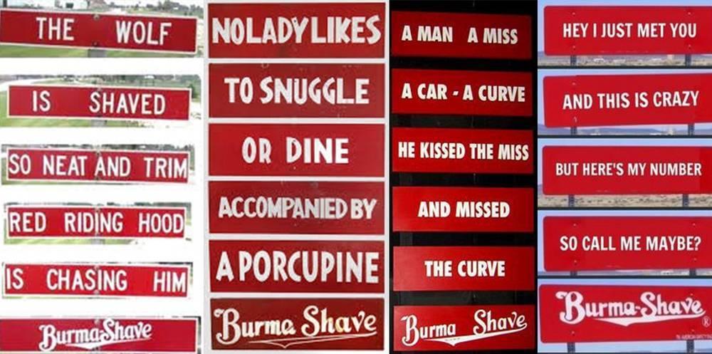 Pancartes Burma-Shave