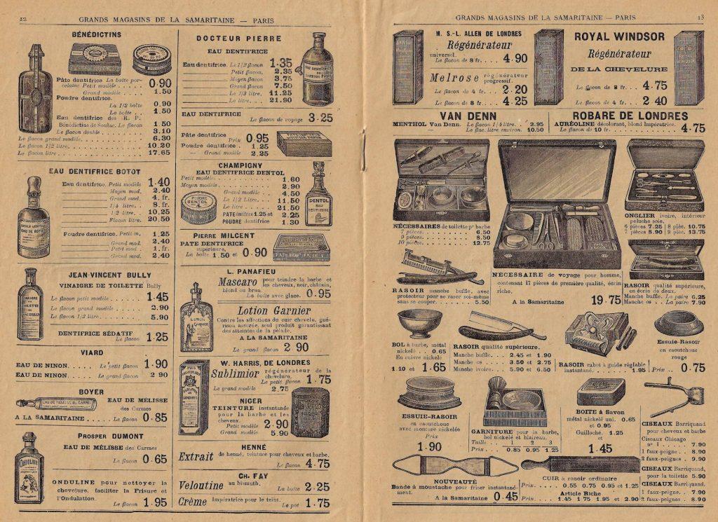Catalogue du magasin La Samaritaine, en 1909.
